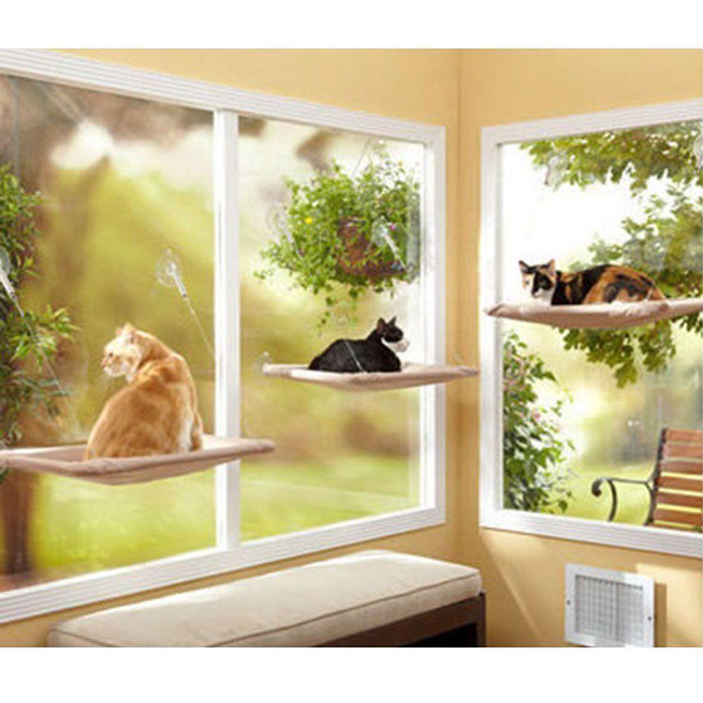 Sunny Window Seat Cat Bed Perch Window Mounted Cat Bed Sucker Cat Hammock Cat Hammock Tried It Love It Click T Cat Window Bed Cat Hammock Window Cat Window