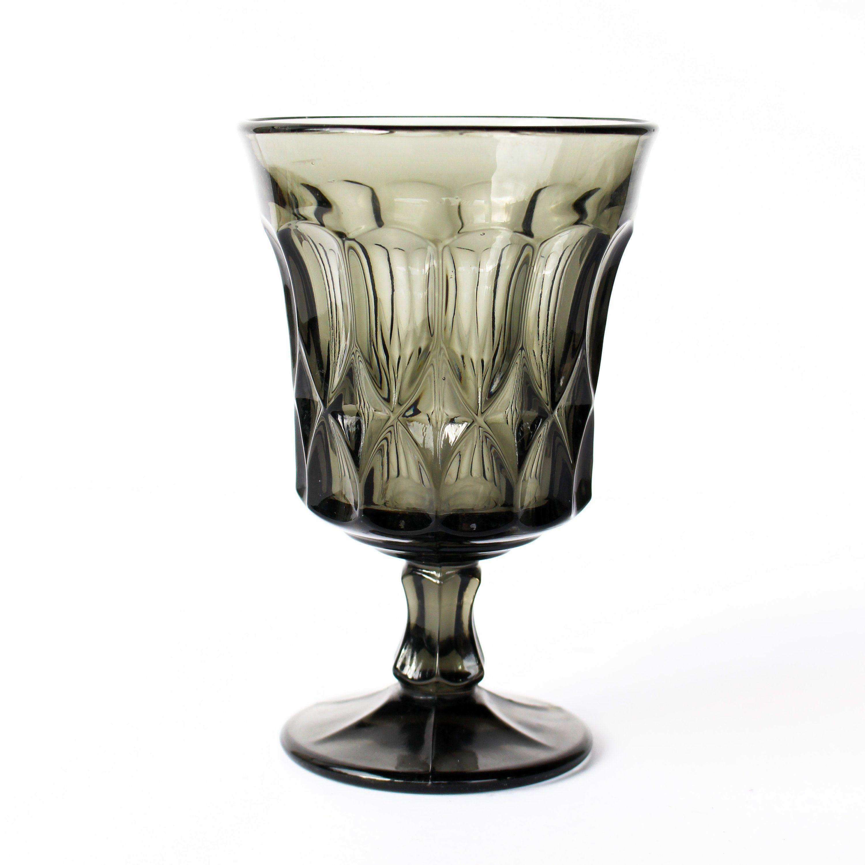 Noritake Perspective Smoke Grey Smoke Glass Wine Glasses