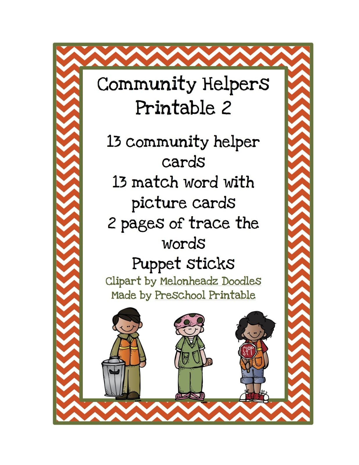 community helpers printable preschool printables by gwyn