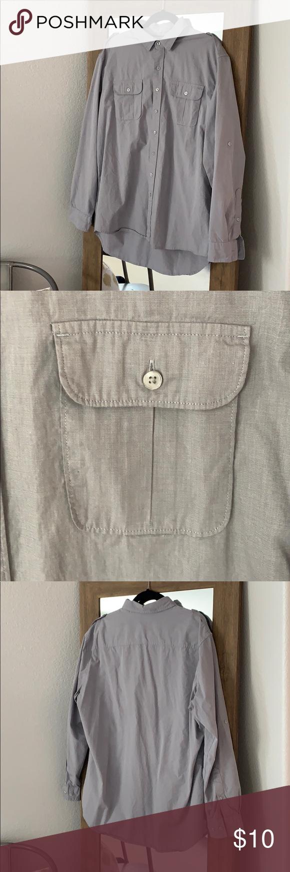 Mens Apartment 9 Grey Dress Shirt My Posh Picks