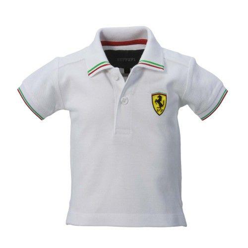 Ferrari Kids Red Shield Logo Polo Shirt