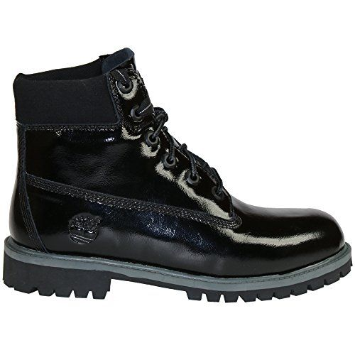 4df2d10a1c7a7c Timberland 6 Inch Premium Waterproof Big Kids Boots 5 Black Shine -- Click  image for more details.(This is an Amazon affiliate link and I receive a ...