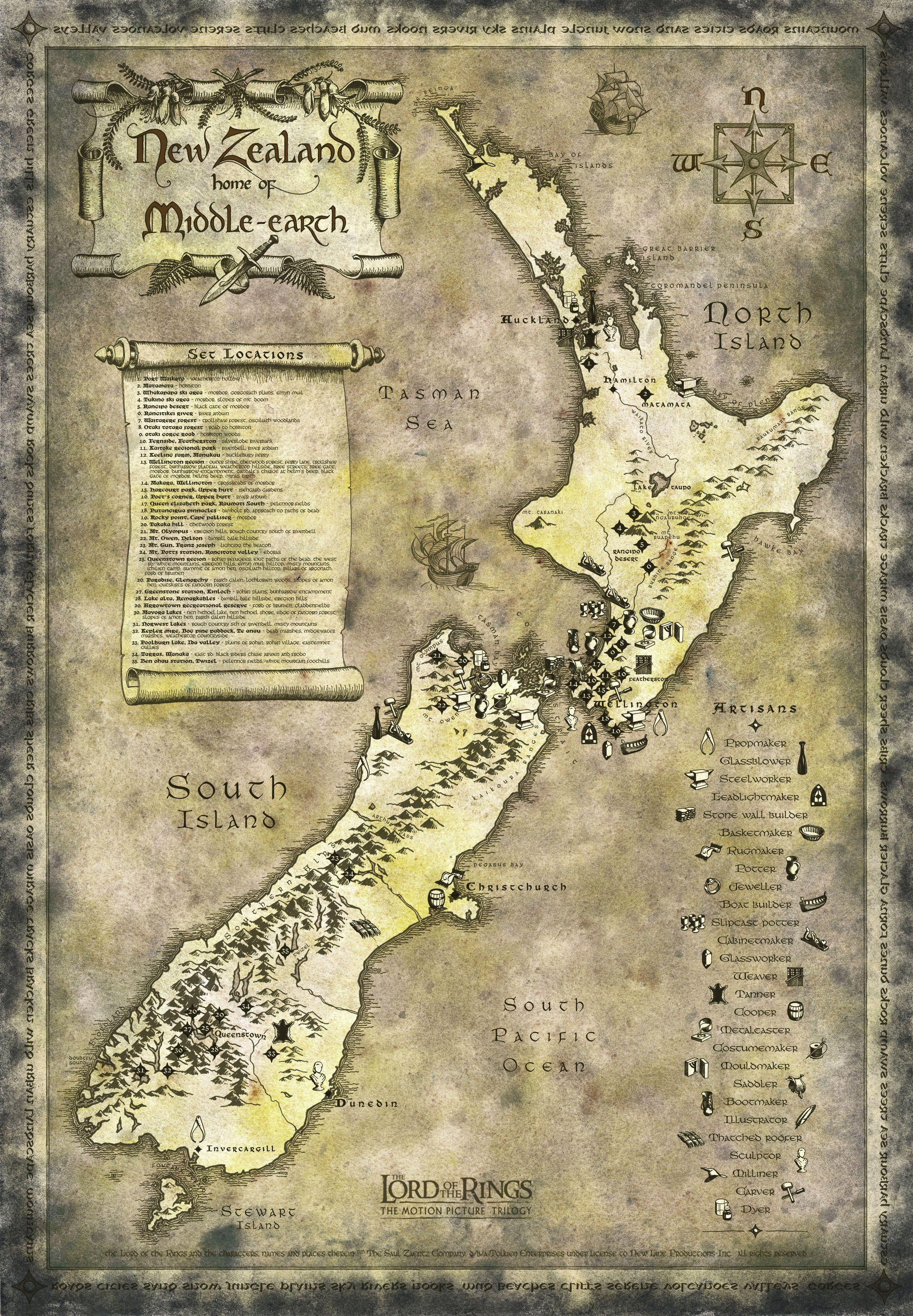 Amazon.fr : carte seigneur des anneaux