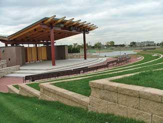 Landscapeonline Com Outdoor Stage Parking Design Public Garden
