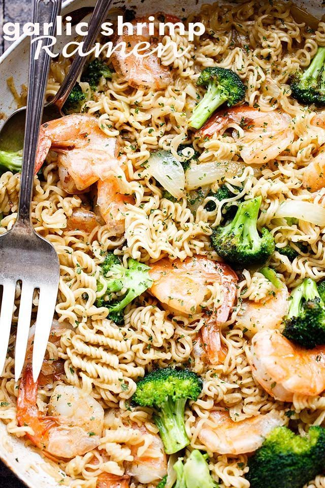 Garlic Shrimp Ramen - Turn those instant ramen noodles into a delicious 30-minut... -  -  Garlic Sh