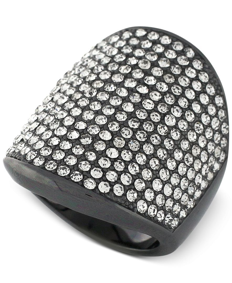Vince Camuto Crystal Pave Shield Ring