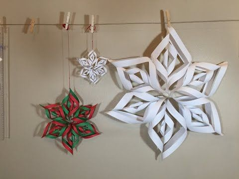 3 D Snowflake Tutorial Youtube Jewelry Pinterest Paper