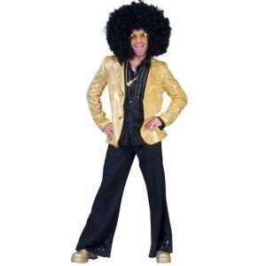 D guisement disco veste or sequin adulte homme ann es 70 80 f tes d guisements pinterest - Veste annee 80 ...