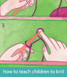 How to teach kids to knit