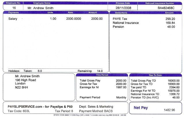 Wage Slip Template Payslip Format In Excel For Company Free