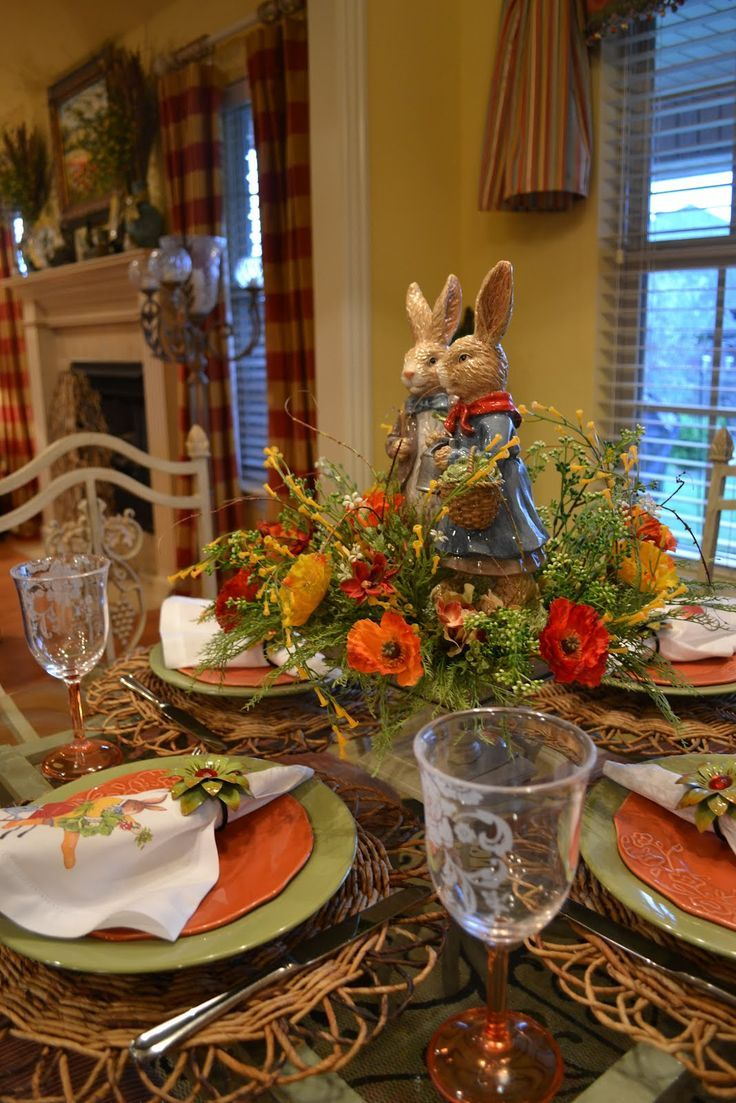 Kristen's Creations Spring Bunny Tablescape Pin