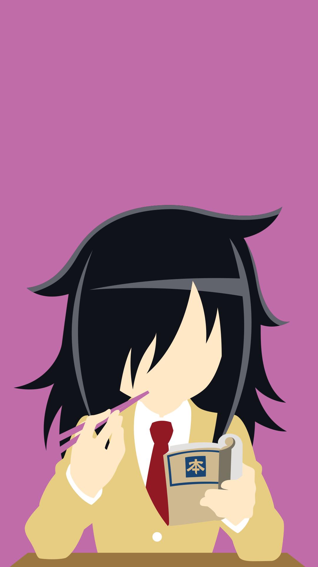 Minimalist Tomoko Kuroki Mobile Wallpaper (1080x1920