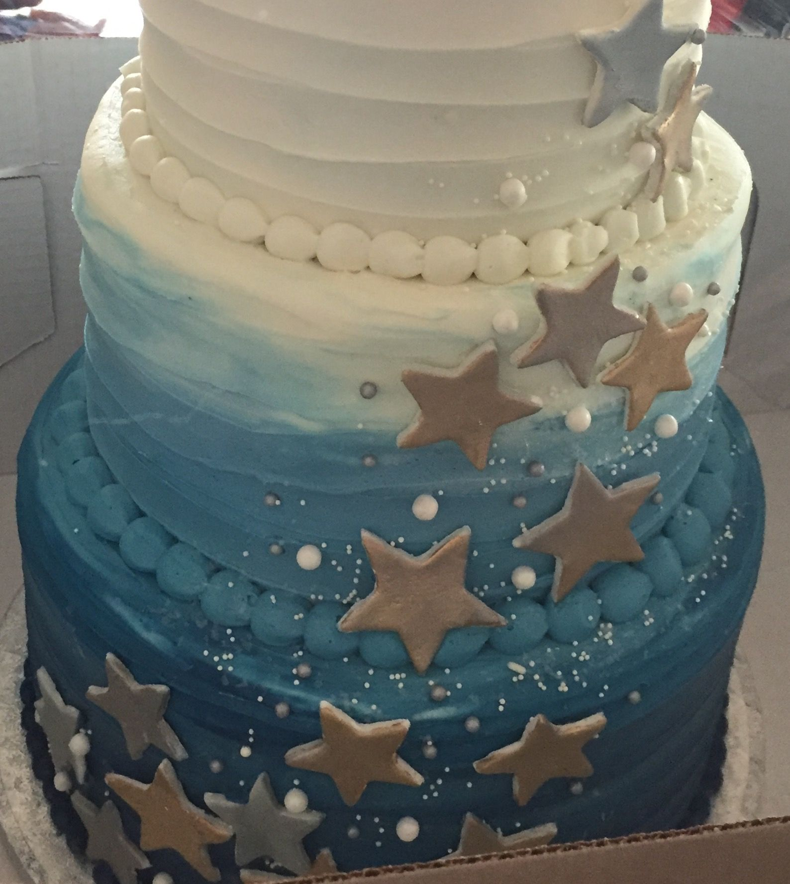 Baby Shower For A Boy Twinkle Twinkle Little Star Theme Cake With
