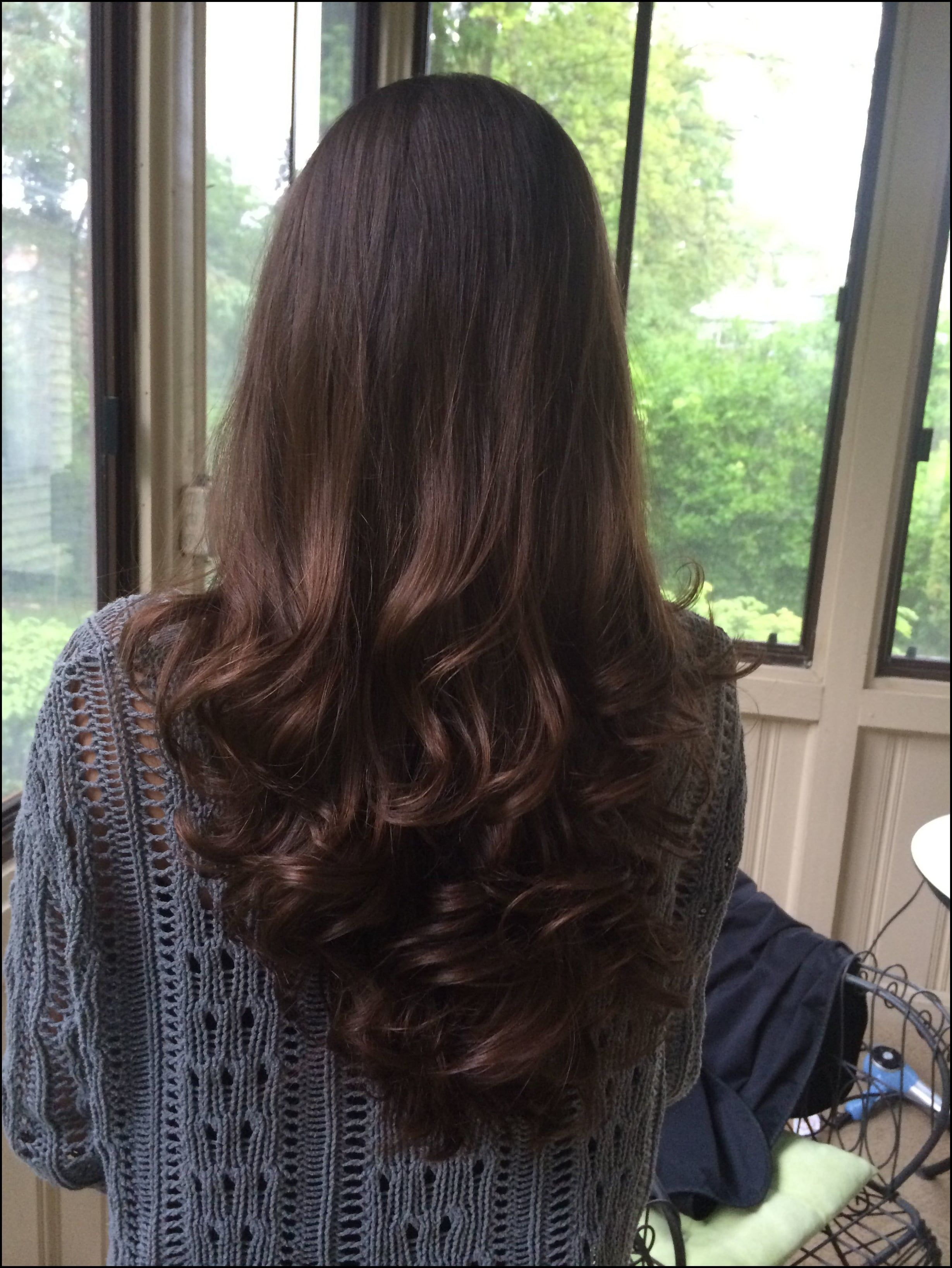 Long layered Victoria Secret V-Shape Haircut with curls_ Wish my ... | | Haircuts for long hair ...