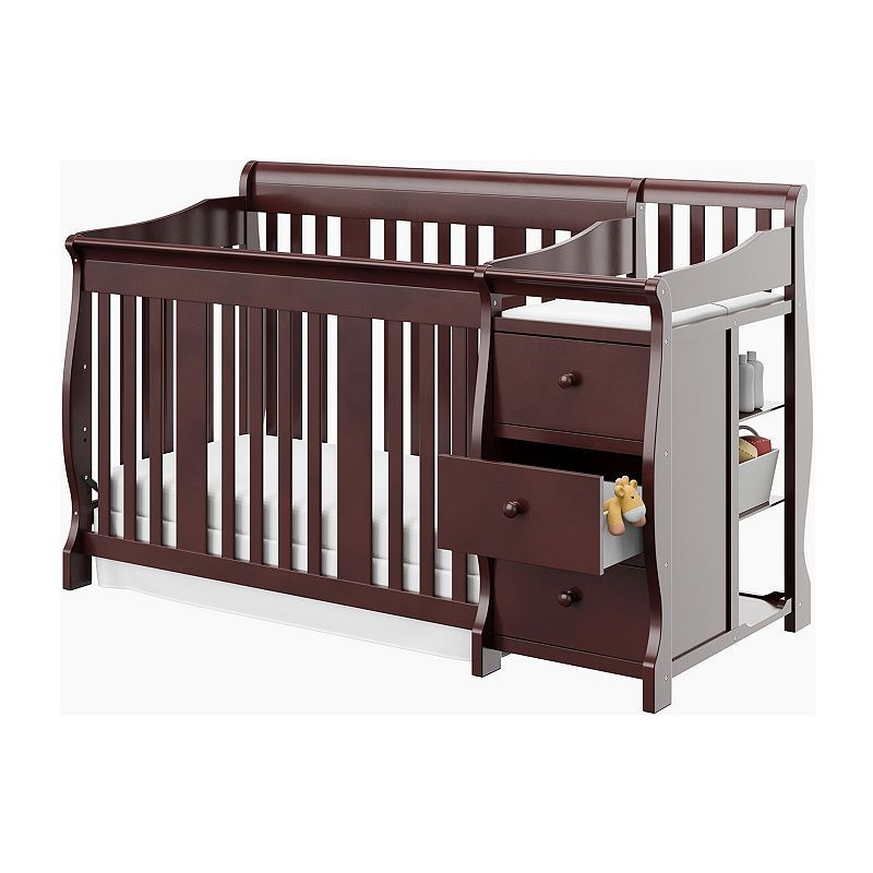 Storkcraft Portofino 4 In 1 Crib And Changer Cherry Crib With Changing Table Convertible Crib Baby Cribs Convertible