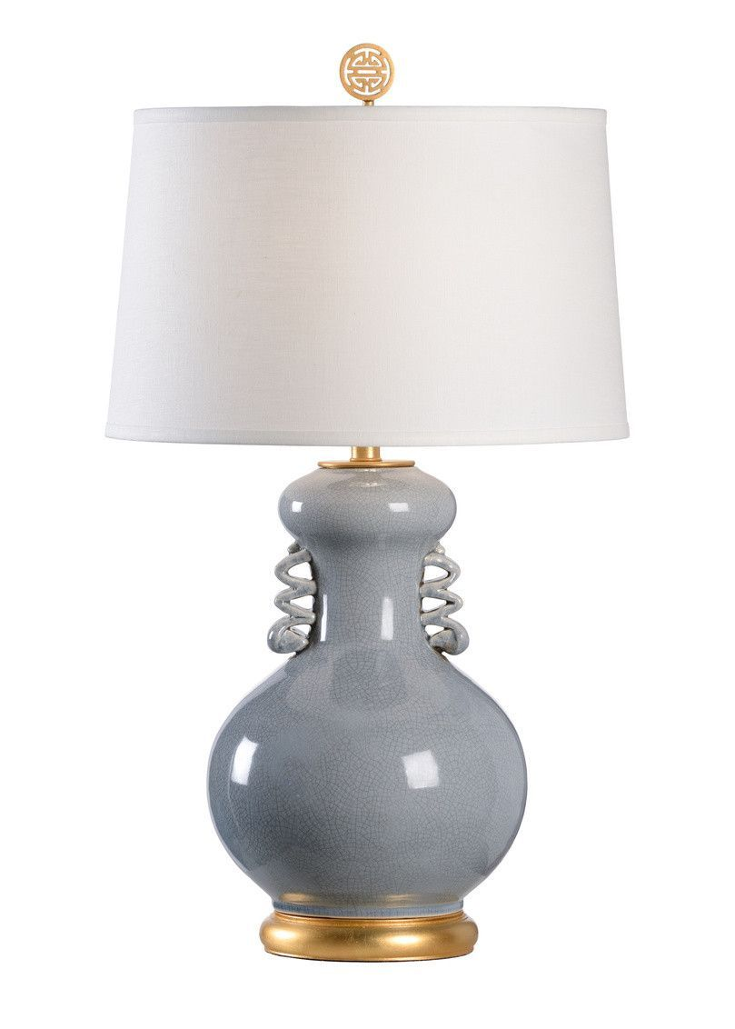 Ribbed Crackle Glaze Table Lamp Table Lamps Lamps Lights