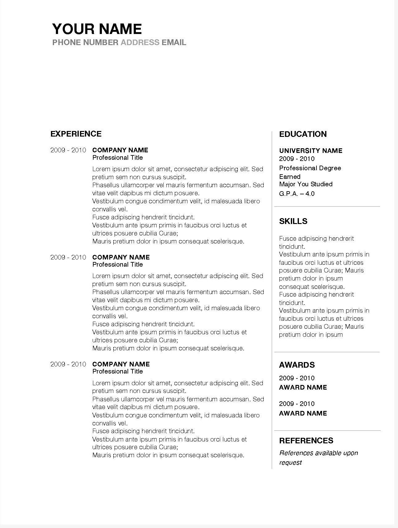5 Best Free Resume Templates Of 2019 Stand Out Shop