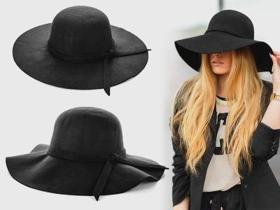Must Have Kapelusz Damski Falowany Czarny Welna 5578209923 Oficjalne Archiwum Allegro Floppy Hat Fashion Floppy