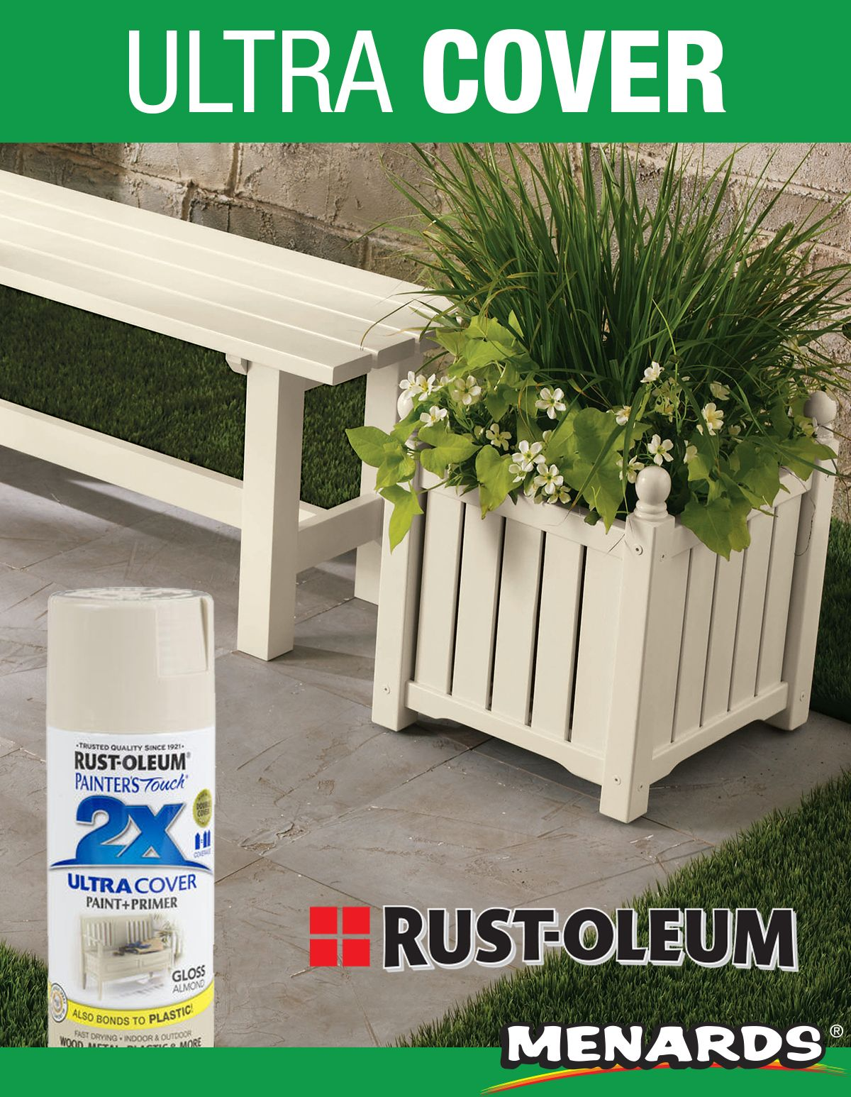 Add a fresh look to planters patio furniture and more