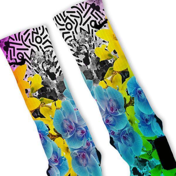 90's Flower Custom Nike Elite Socks