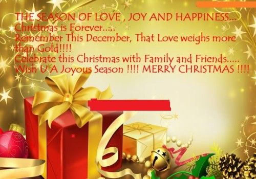 Merry Christmas with love for family Happy New Year Pinterest - christmas wishes samples