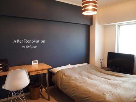 寝室 アクセントクロス Google 検索 寝室 壁紙 おしゃれ