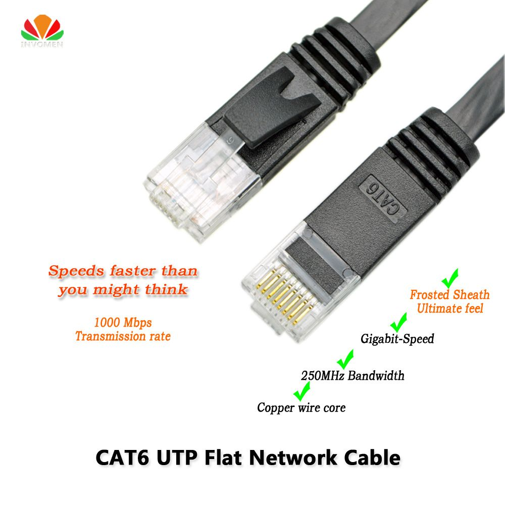 Wiring Rj45 Lan Cable Vs Data Schema How To Make 33ft 10m Cat6 Ethernet Flat Utp Network Color