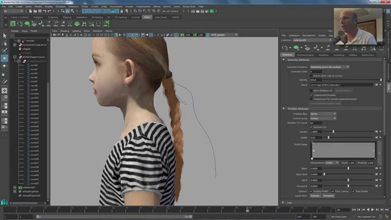 A Quick Lesson On How To Use Xgen To Create A Braided Ponytail With Details  Added