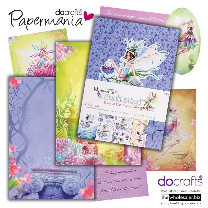 A4 ENCHANTED PEARLESCENT FAIRY TOPPERS TOPAZ