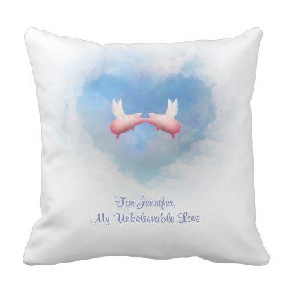 Flying Pigs In Love Customizable Pillow - for him love gift idea diy ...