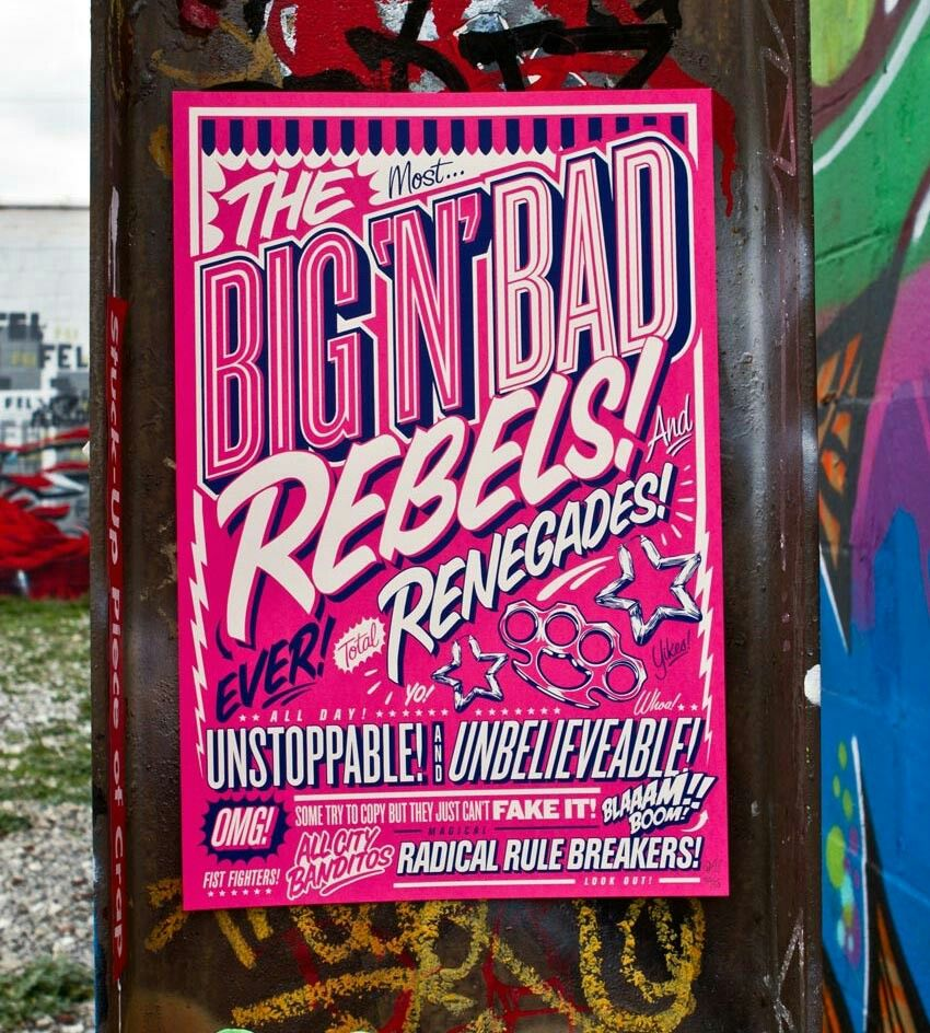 Queen Andrea Lettering Type Typography Graffiti Pink
