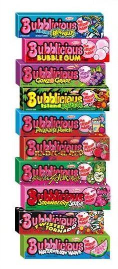 Bubblicious Bubble Gum!! Paradise Punch was my FAVORITE!!
