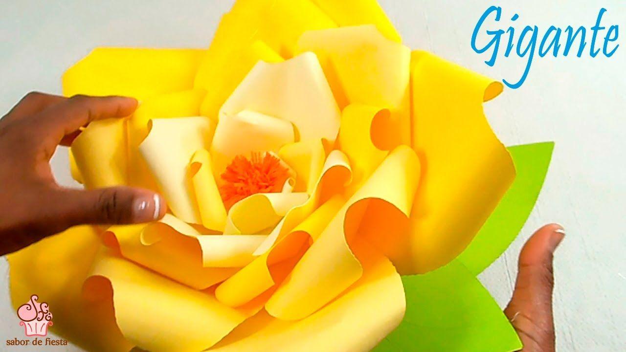 Rosa gigante para decoraciÓn de fiestas sabor de fiesta diy