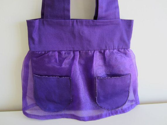 Purple Patch Pocket Bag by kerrianneanderson on Etsy