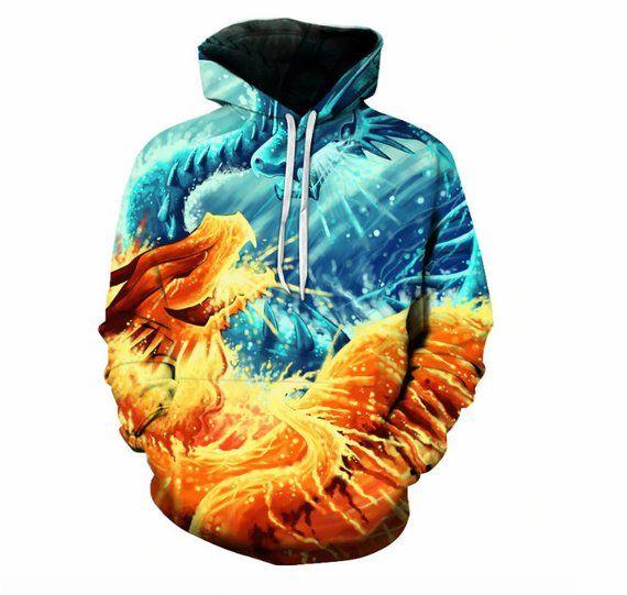 6e92ed594 image 0 Fire And Ice Dragons, Printed Sweatshirts, Mens Sweatshirts, Dragon  Print,