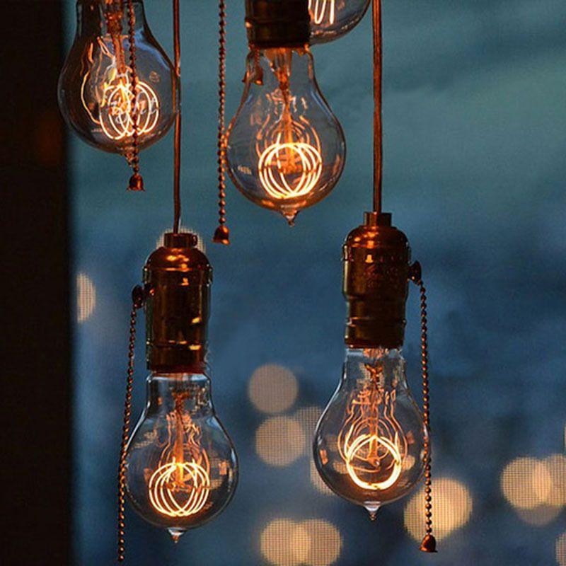 Retro vintage 40w edison light bulb chandelier e27 220v lamp retro vintage 40w edison light bulb chandelier e27 220v lamp industrial incandescent bulbs filament edison light aloadofball Choice Image