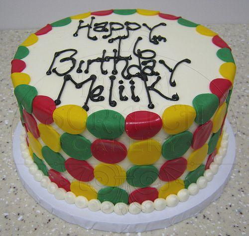 Birthday Jamaican Colors Birthday cakes and Cake