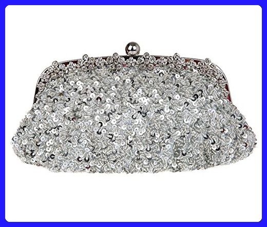 Dressdew Women s Bling Elegant Sequin Cocktail Evening Clutch Handbag  Silver - Evening bags ( Amazon Partner-Link) 5f26ed9a2cd8