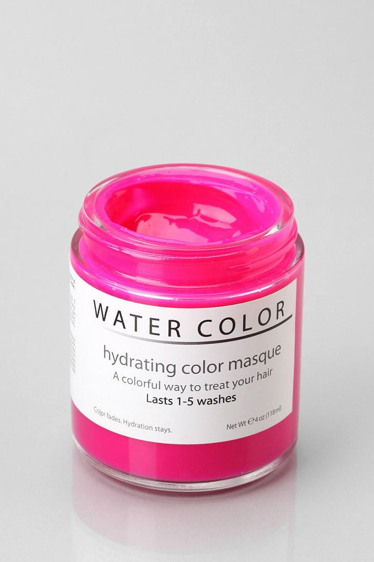 Water Color Hydrating Hair Masque Temporary Pink Hair Dye Hair