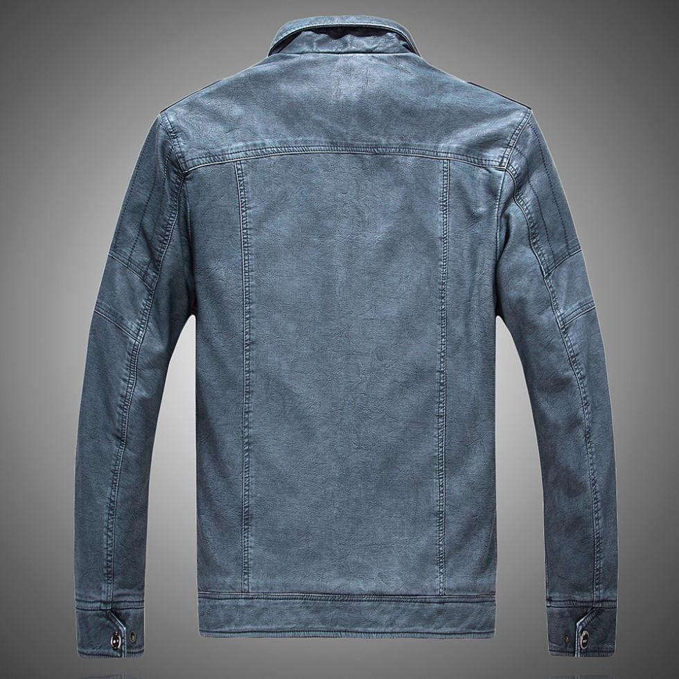 Winter jackets men leather jacket men s coats thickening wool