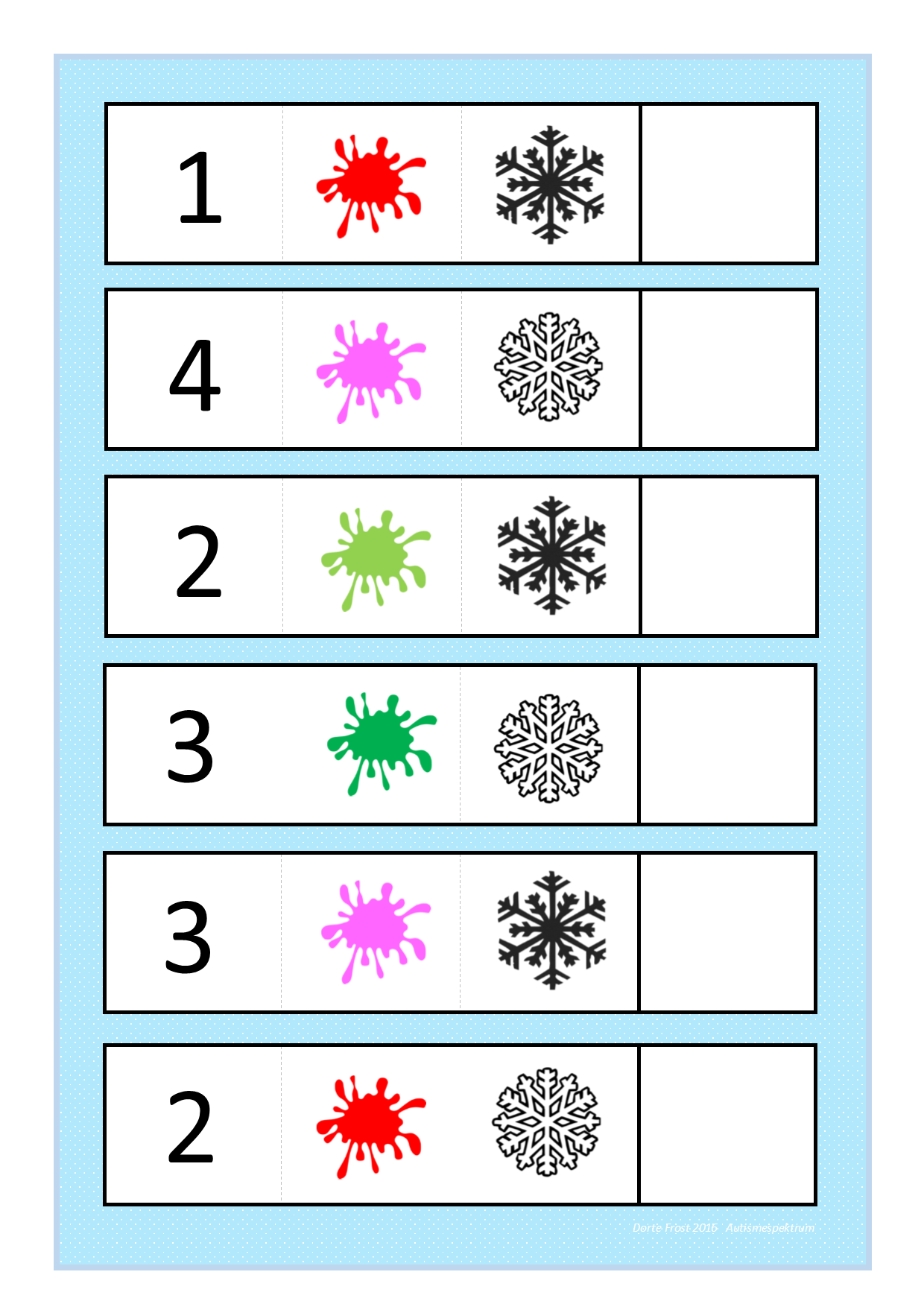 Board For The Snowflake Logic Game Find The Belonging