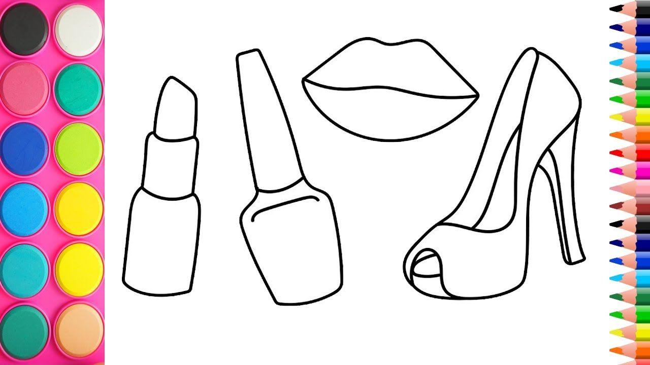 Dibujo De Jugo Para Colorear: Cómo Dibujar Accesorios Para Niñas