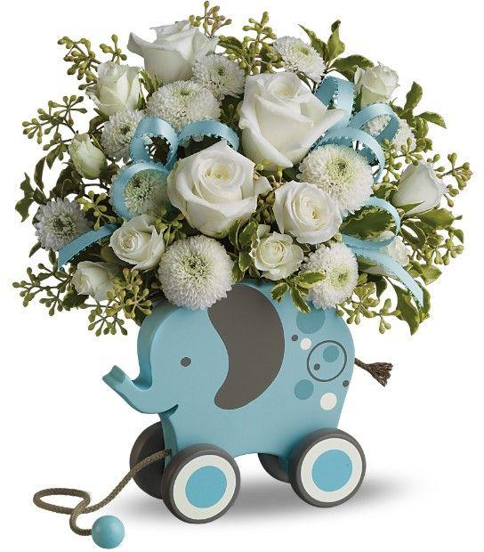 Boy Baby Shower Centerpieces | Baby Boy Flower Arrangements 2 10 From 31  Votes Baby Boy