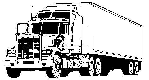 Semi Truck Clip Art Black And White Free Printable Black Art
