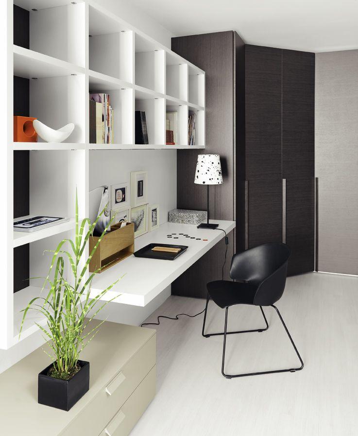 Amenagement De Bureau Moderne Dans Un Salon Design Amenagement Bureau Bureau A Domicile Salon Contemporain