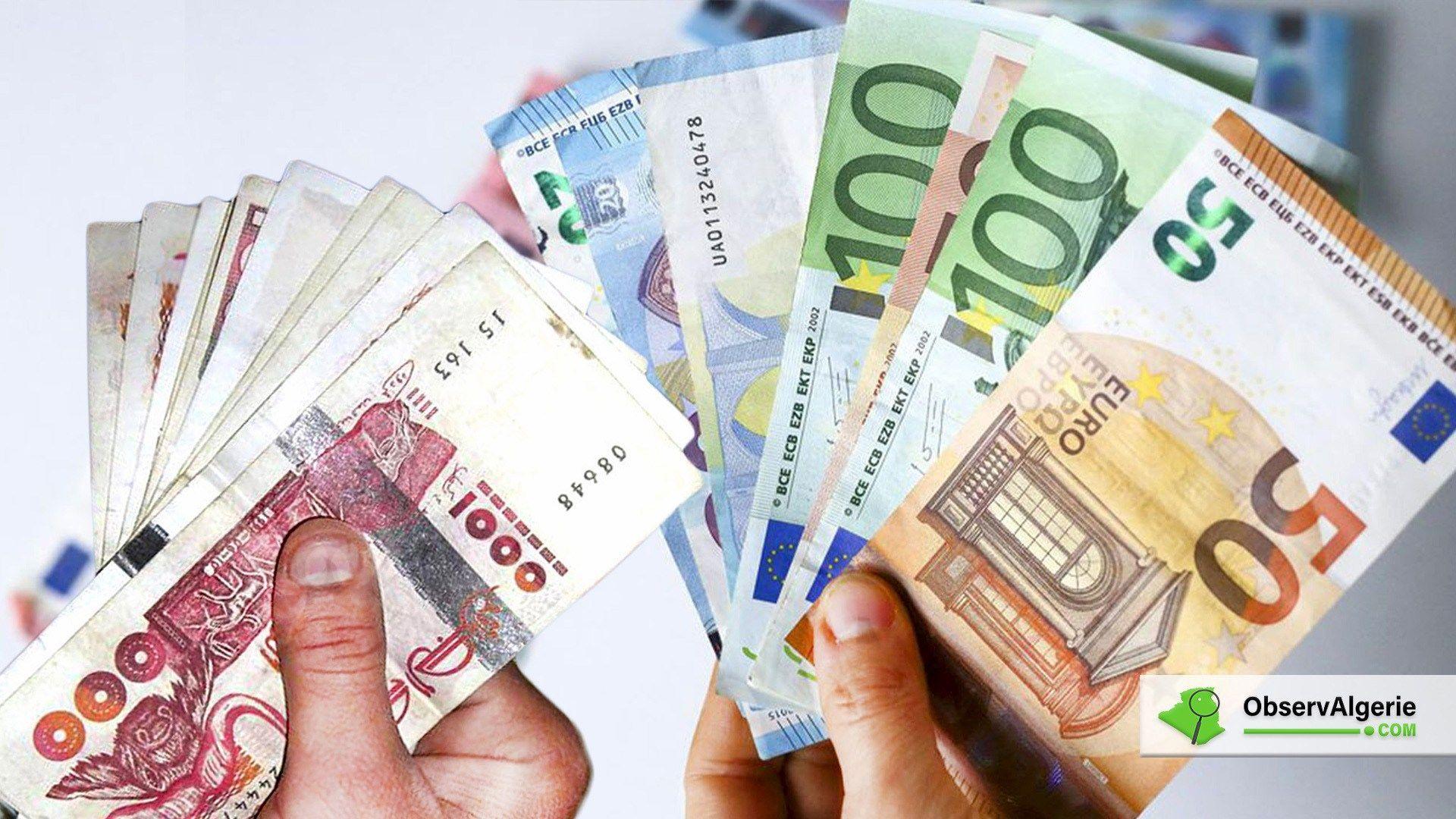 L Euro En Legere Baisse Face Au Dinar Algerien Sur Le Marche Noir Et Officiel En 2020 Taux De Change Alger Change