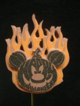 Disney Parks Flaming Mickey Pumpkin Antenna Topper -Comes Sealed - Disney Parks Exclusive & Limited Availability