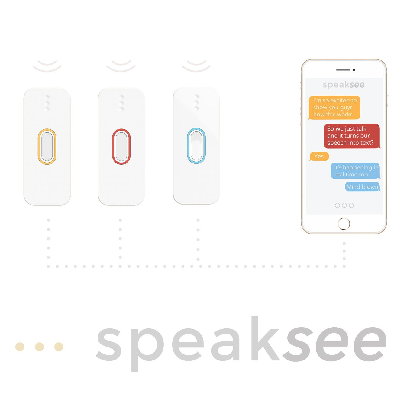 A portable device that uses speech recognition to transcribe