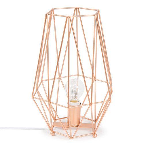 Lampada In Metallo Ramato Art Design Copper Lamps Gold