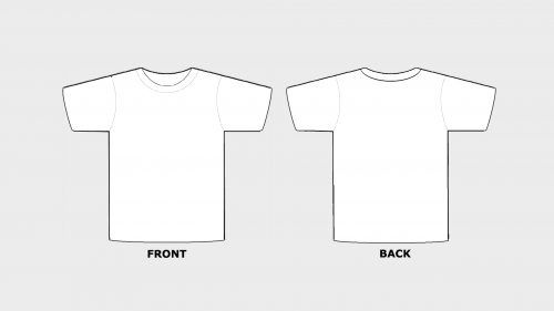 Blank Tshirt Template Printable In Hd Art Ideas Pinterest